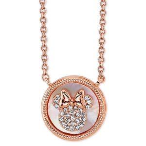 NWT Rose Gold plate Minnie Mouse Pendant Necklace